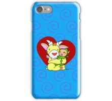 Cute monster hug iPhone Case/Skin