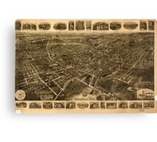 Panoramic Maps Middletown NY Canvas Print