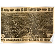 Panoramic Maps Middletown NY Poster