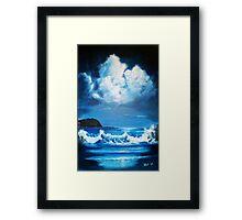 Moonlight Sonata: Minehead Bay Framed Print