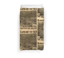 Panoramic Maps Middletown NY Duvet Cover
