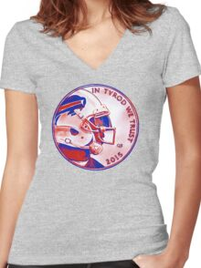 IN TYROD WE TRUST  Women's Fitted V-Neck T-Shirt