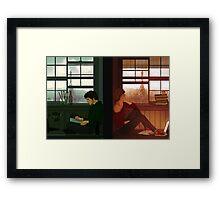 Enjolras & Grantaire Framed Print