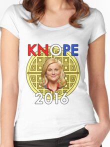 Leslie Knope for President Women's Fitted Scoop T-Shirt