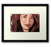 Pop art girl Framed Print