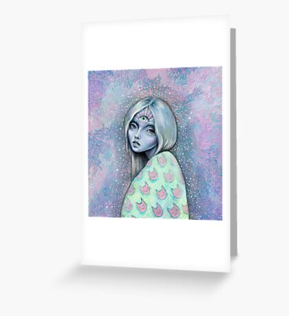 Magical Girl Allison Greeting Card