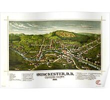 Panoramic Maps Winchester NH Cheshire County 1887 Poster