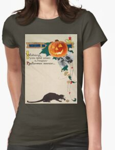 Black Cat (Vintage Halloween Card) T-Shirt
