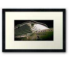 Royal Carribean Oasis Ship Framed Print