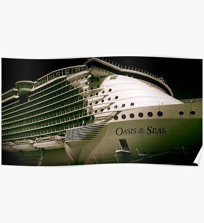 Royal Carribean Oasis Ship Poster