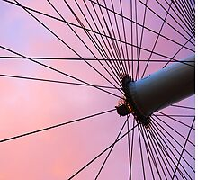 Lavender Sky and London Eye Wheel by Byzas