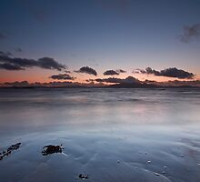 Ardrossan Beach in Sunset by Maria Gaellman