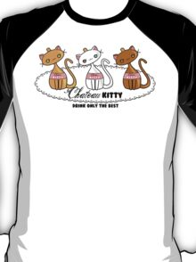 Kawaii Chateau Kitty Wine Bottle  T-Shirt