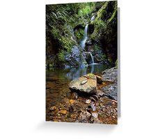 White Star Waterfall Greeting Card