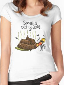 "Willy Bum Bum - ""Smelly Old Wasp!"" Women's Fitted Scoop T-Shirt"