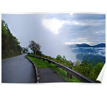Fog on the Blue Ridge Parkway Poster