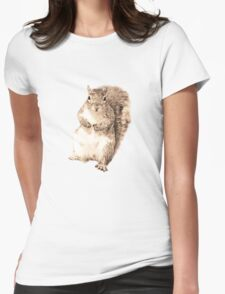 Squirrel t-shirt Womens Fitted T-Shirt