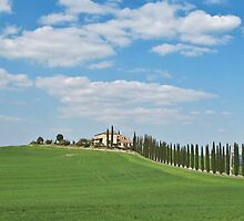 Italian house on a hill by Anne Scantlebury
