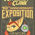 Ratchet & Clank 10th Anniversary Exposition by Sam Novak
