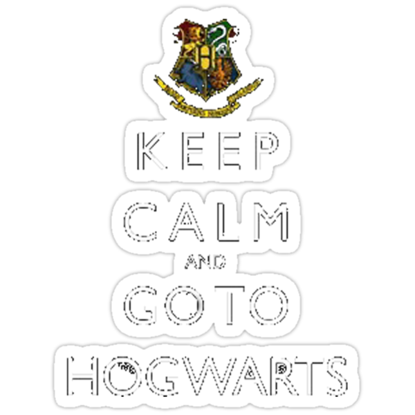 Keep calm and go to HOGWARTS by salk