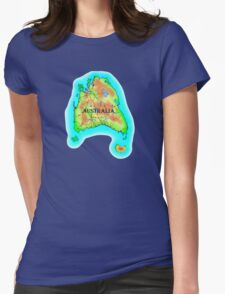 Tasmania's Australia Womens Fitted T-Shirt