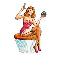 Cupcake Girl 1 Photographic Print