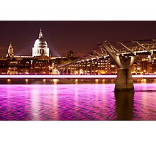 St. Paul's Cathedral with a splash of colours Photographic Print