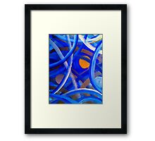 Blu Brush Framed Print