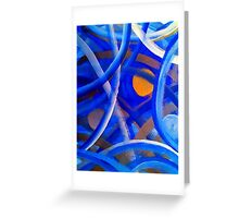 Blu Brush Greeting Card