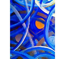 Blu Brush Photographic Print