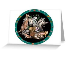 Australian fauna plate Greeting Card