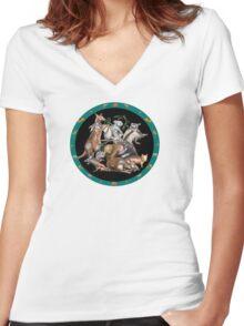 Australian fauna plate Women's Fitted V-Neck T-Shirt