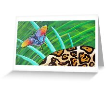 Jaguar Butterfly in Jungle Greeting Card