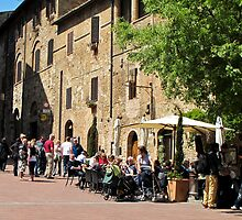 street in San Gimignano by Anne Scantlebury