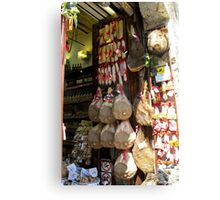 meat shop Canvas Print