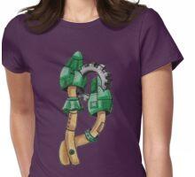 Green Steampunk Mushrooms Womens Fitted T-Shirt