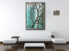 """Painting """"Cherry Tree"""" Displayed in Setting by Carrie Jackson"""