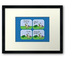 All Water Is Dinosaur Pee And Definitely Not Unicorn Pee Framed Print