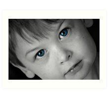 Eyes of Blue Art Print