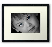 Eyes of Blue Framed Print