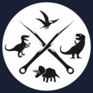 Hipster Dinosaurs Logo (black version) by jezkemp