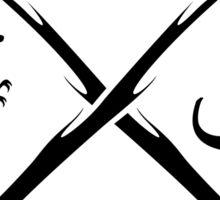 Hipster Dinosaurs Logo (black version) Sticker