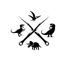 Hipster Dinosaurs Logo (black version) Photographic Print