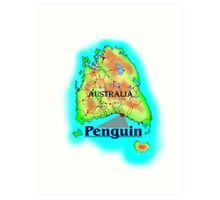 Penguin - Tasmania Art Print