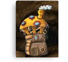 Yellow Steampunk Mushroom Canvas Print