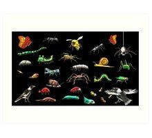 Creatures wallpaper Art Print