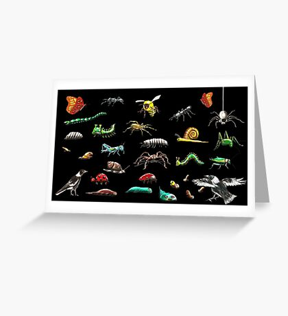 Creatures wallpaper Greeting Card