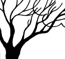 Tree and Cloud - Simple but Unique Sticker