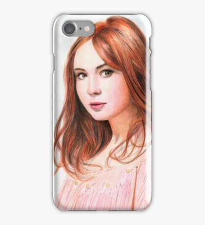 Amy Pond - Karen Gillan from Doctor Who saga iPhone Case/Skin