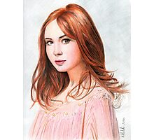 Amy Pond - Karen Gillan from Doctor Who saga Photographic Print